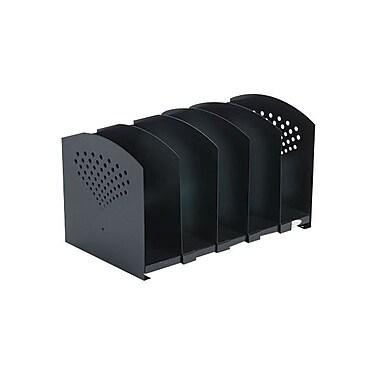 SafcoMD – Support en acier pour livres à 5 sections ajustables 3116, noir