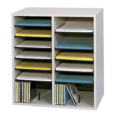 Safco® 16-Compartment Adjustable Literature Organizer, Grey