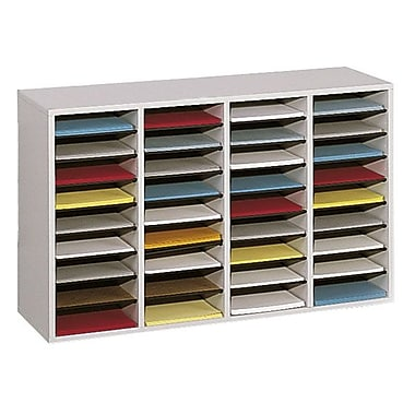 Safco® 36-Compartment Adjustable Literature Organizer, Grey