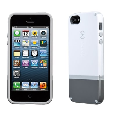 Speck CandyShell Flip for iPhone 5, White/Graphite Grey/Pebble Grey