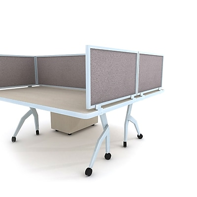 Obex Acoustical Desk Mount 18''Hx36''W Privacy Panel, Latte (18X36AAPEDM)