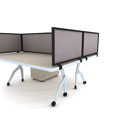 OBEX Acoustical Desk Mount Privacy Panel, 24''H x 24''W (24X24ABPEDM)