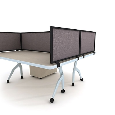 Obex Acoustical Desk Mount 18''Hx48''W Privacy Panel, (18X48ABSLDM)