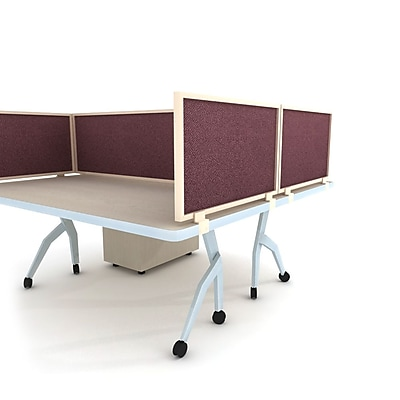 Obex Acoustical Desk Mount Privacy Panel W/Brown Frame, 24
