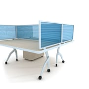 "Obex 18"" x 48"" Polycarbonate Desk Mount Privacy Panels W/AL Frame"