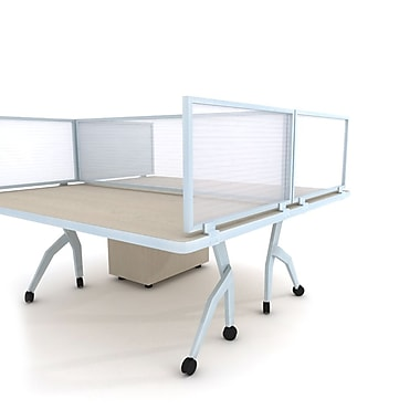 Obex Polycarbonate Desk Mount 12''Hx60''W Privacy Panel, White (12X60PAWDM)