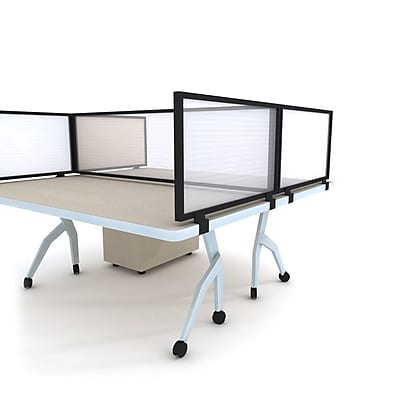 Obex Polycarbonate Desk Mount 24''Hx66''W Privacy Panel, White (24X66PBWDM)