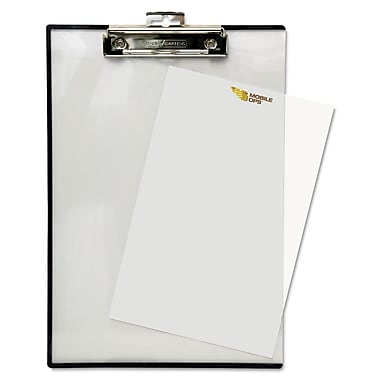 Baumgartens Double-Panel See-Thru Clipboard, Clear, 8 1/2