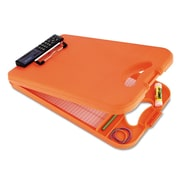 "Saunders® 1/2"" Capacity Polypropylene DeskMate II Storage Clipboard w/Calculator, Orange/Tangerine"