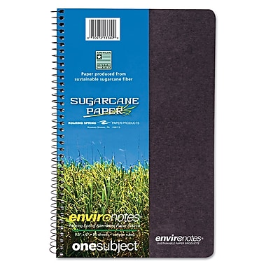 Roaring Spring Environotes Spiral Wirebound Notebook with BioBase Paper, 9 1/2