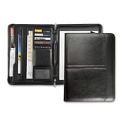 Pedano RO-EL 3-Point Zipper Leather Portfolio, Black