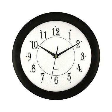Artistic – Horloge murale analogue ronde 6424 de 12 po, noire