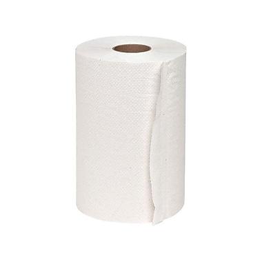 Genuine Joe® Hardwound Roll Towel, White, 12/Pack
