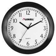 LorellMD – Horloge murale ronde de 9 po, noire (60987)