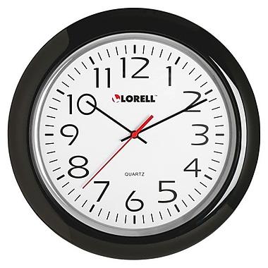LorellMD – Horloge murale ronde de 13 1/4 po, noire (60989)