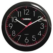 LorellMD – Horloge murale ronde de 10 po, noire (60995)