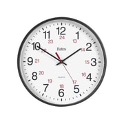 "GBC 9847027 12"" 24 Hours Quartz Wall Clock"