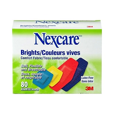 Nexcare™ Comfort Brights Bandages, 28.58 mm x 57.15 mm, Assorted