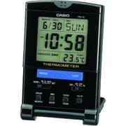 Casio® PQ15-1K Travel Alarm Clock With Thermometer, Black
