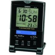 CasioMD – Réveil-matin de voyage avec thermomètre, noir (PQ15-1K)