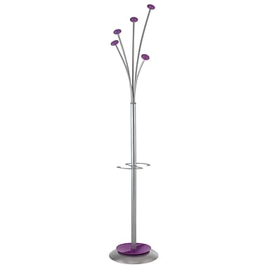 Alba Stylish Festival Floor Coat Stand, 5 Pegs, Purple