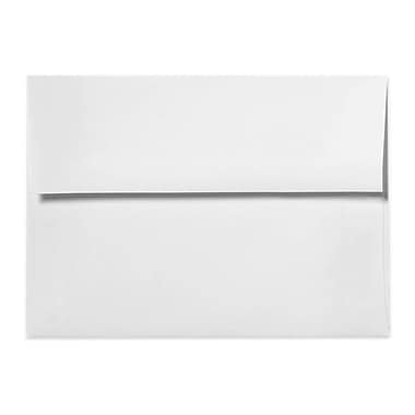 LUX A1 Invitation Envelopes (3 5/8 x 5 1/8), 80lb., White w/Peel & Press, 250/Box (FE4565-05-250)