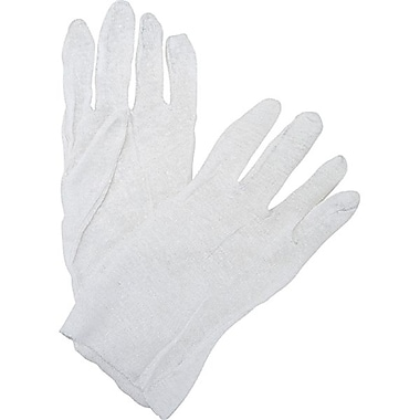 Zenith Safety Poly/Cotton Inspection Gloves, Light-Weight, Men's, 120/Pack
