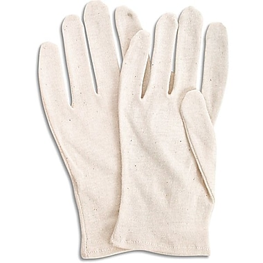 Zenith Safety Poly/Cotton Inspection Gloves, Medium-Weight, Men's, 120/Pack