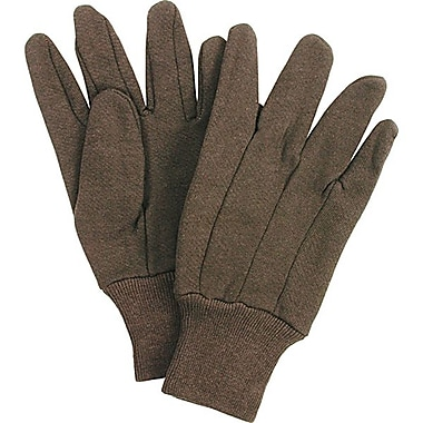 Zenith Safety Jersey Gloves, Brown, Large, Knit Wrist, 60/Pairs per Pack