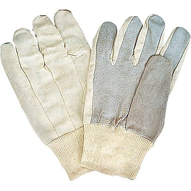 Zenith Safety Split Cowhide Leather Palm Gloves, Better Quality, White Back, Medium Size, 36/Pack