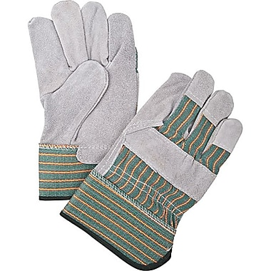 Zenith Safety Split Cowhide Fitters, Superior Quality Gloves, Rubberized Cuff, Medium, 36/Pack