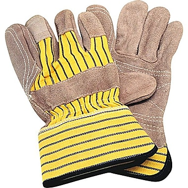 Zenith Safety Double Palm & Index Finger Split Cowhide Fitters Gloves, Superior Quality, L, 24/Pack