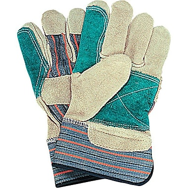 Zenith Safety Double Palm & Index Finger Split Cowhide Fitters Gloves, Superior Quality, L, Outside Double Palm, 24/Pack