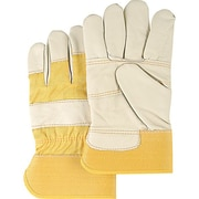 Zenith Safety Grain Cowhide Leather Gloves, Large Size, 36/Pack