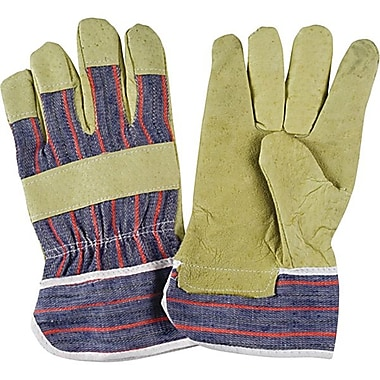 Zenith Safety Grain Pigskin Fitters Gloves, Standard Quality, Large Size, Safety Cuff, 24/Pack