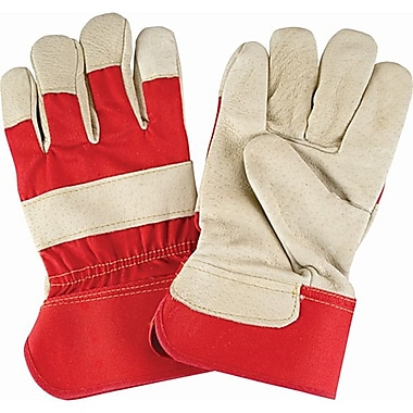 Zenith Safety Grain Pigskin Fitters Gloves, Premium Quality, Large Size, Rubberized Cuff, 24/Pack