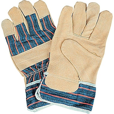 Zenith Safety Split Pigskin Fitters Gloves, Larrge, 36/Pack