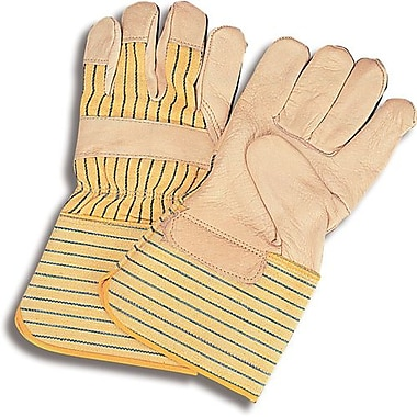 Zenith Safety Superior Quality Lined Grain Cowhide Fitters Gloves, Gauntlet Cuff, L, 24/Pack