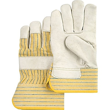 Zenith Safety Cowhide Fitters Gloves, Superior Quality, Lined Grain, Large Size, 24/Pack