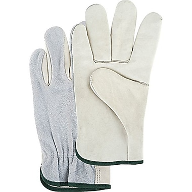 Zenith Safety Split Back Drivers Grain Palm Gloves, L, 12/Pack