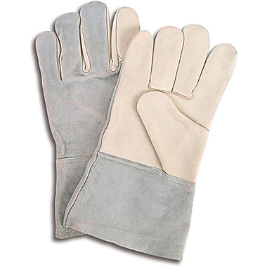Zenith Safety Full Grain Cowhide Palm Gloves, Premium Quality, Unlined, L, Split back, 12/Pack