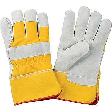 Zenith Safety Split Cowhide Fitters Gloves, Foam Fleece Lined, Large Size, 24/Pack