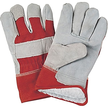 Zenith Safety Split Cowhide Fitters Gloves, Acrylic Boa Lined, X-Large Size, 24/Pack