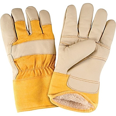 Zenith Safety Grain Furniture Leather Fitters Acrylic Boa Lined Gloves, Large Size, 24/Pack