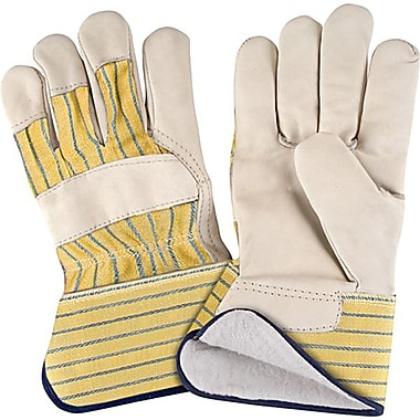 Zenith Safety Grain Cowhide Fitters Gloves, Cotton Fleece Lined, X-Large Size, 12/Pack