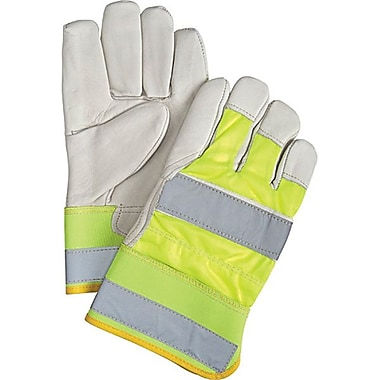 Zenith Safety High Visibility Grain Cowhide Fitters Thinsulate™ Lined Gloves, Large Size, 12/Pack