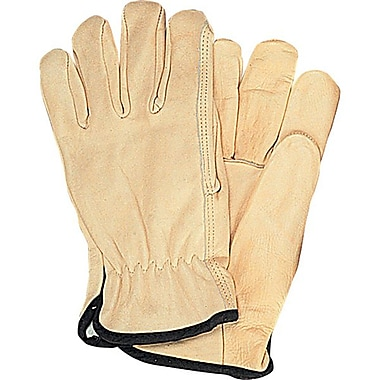 Zenith Safety Grain Cowhide Drivers Gloves, Fleece Lined, Medium Size, 12/Pack