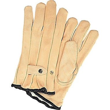 Zenith Safety Grain Cowhide Ropers Gloves, Fleece Lined, 12/Pack