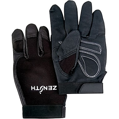 Zenith Safety ZM300 Mechanic Gloves, Medium, 6/Pack