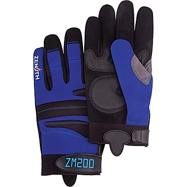 Zenith Safety ZM200 Mechanic Gloves, 2X-Large, 6/Pack